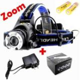 Linterna Minera Led Zoom Recargable De 2000 Lm + 2 Baterias