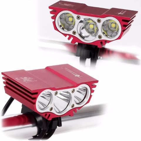 Linterna Bicicleta 7500 Lumen 3led Recargable Solarstorm Tm