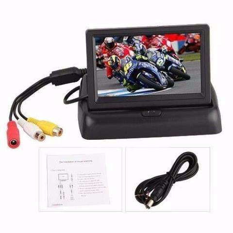 Pantalla Monitor De Reversa Para Carros Autos Retractil